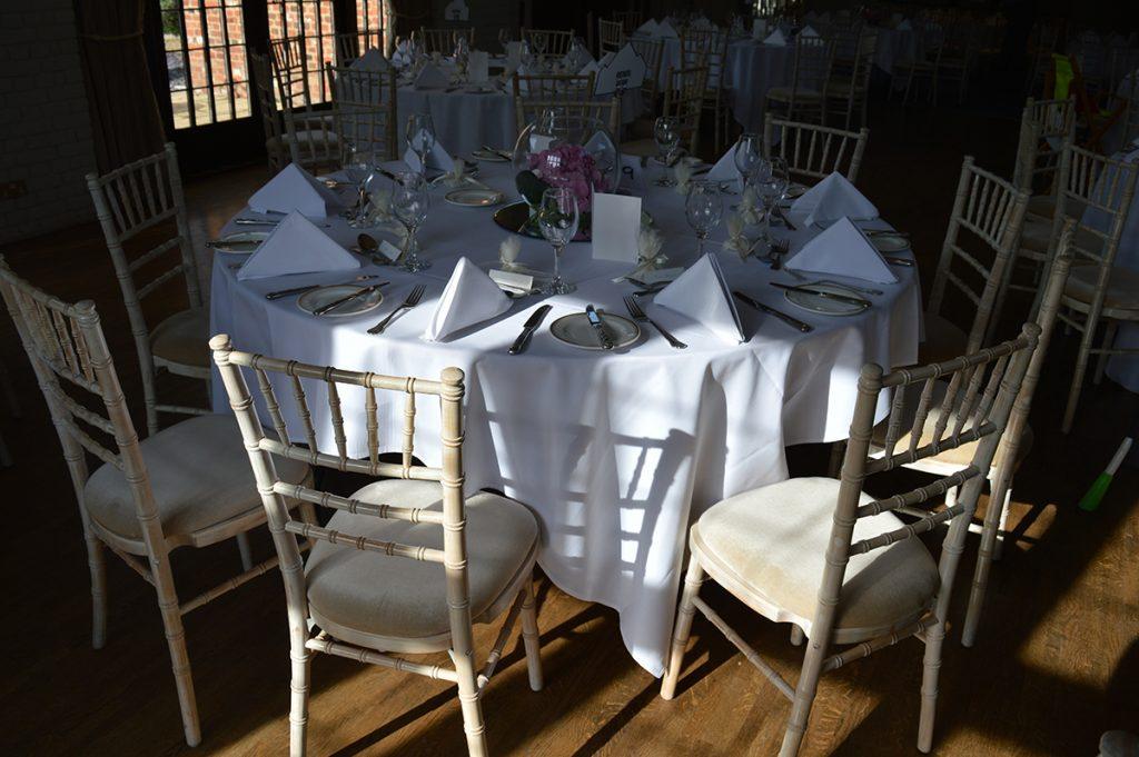 White Limewash Chiavari Chair Seckford Hall Hotel Woodbridge Suffolk